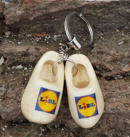 woodenshoe pair keyhanger with logo