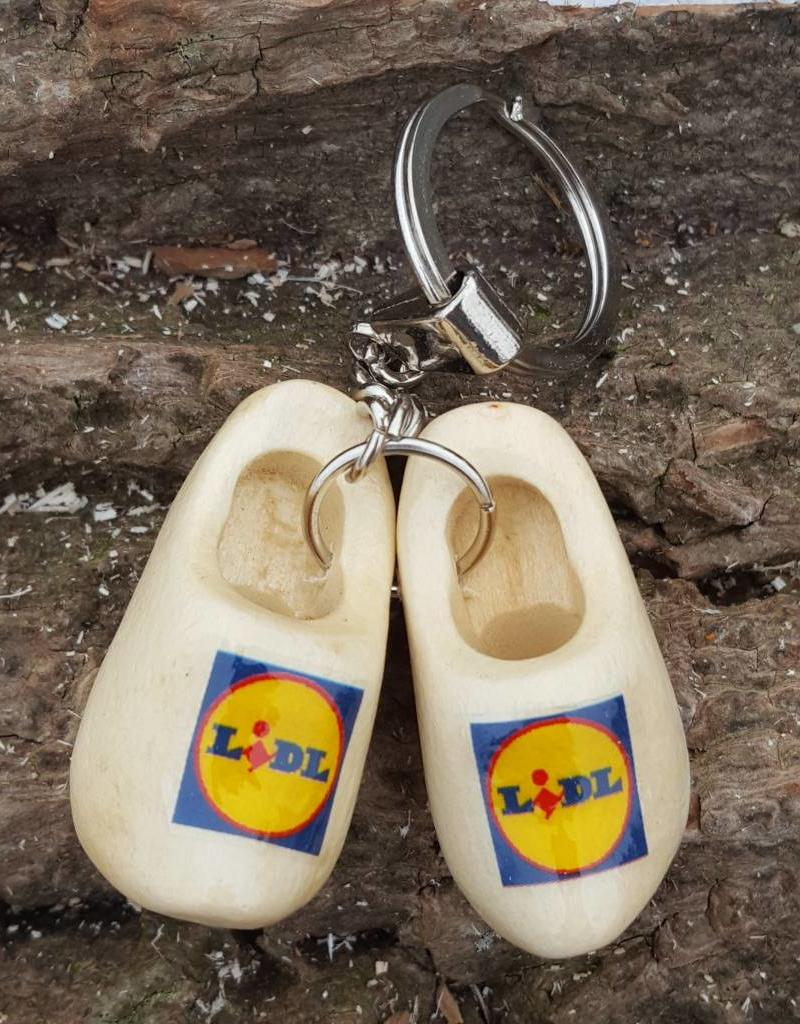 woodenshoe pair keyhanger with logo or text