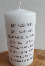 candle with photo, logo oder text.