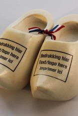 woodenshoe souvenirpair 8cm with personal print