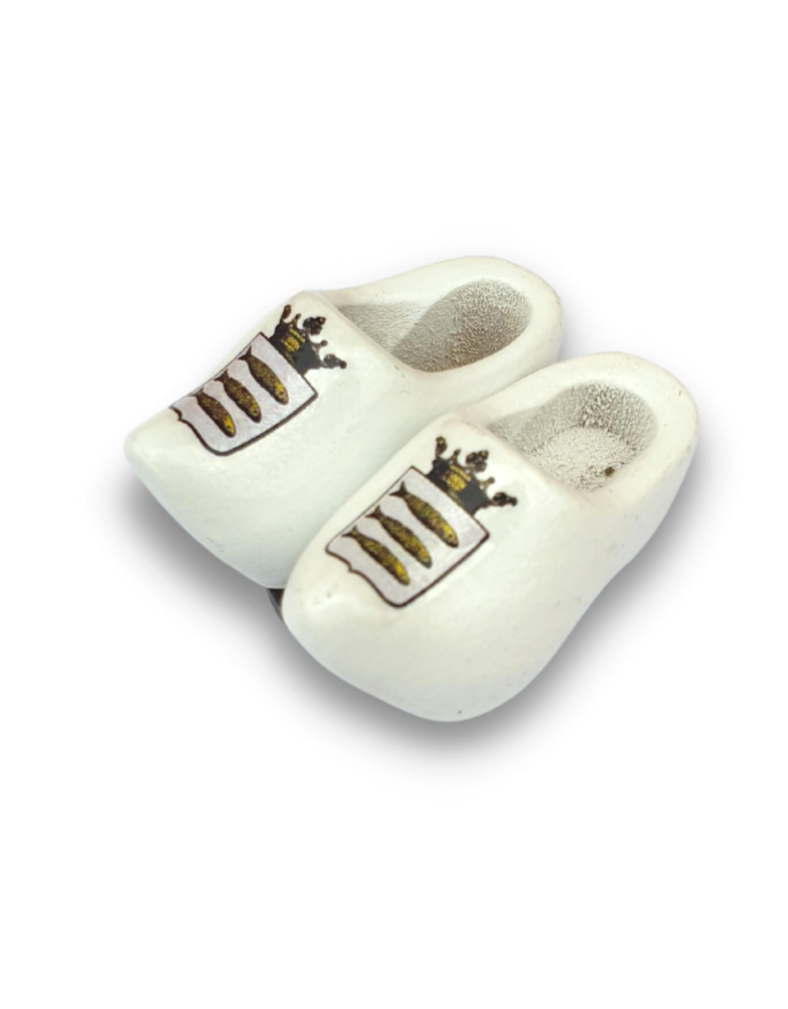 Klompjes magneet wit met logo of tekst