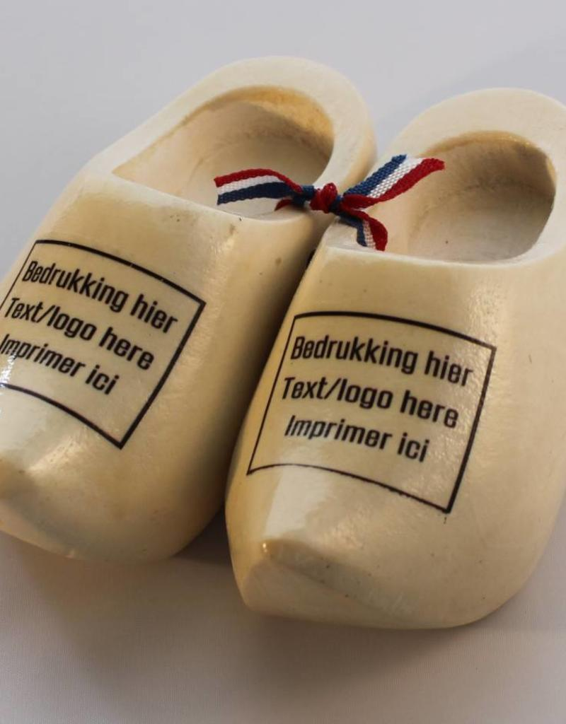 woodenshoe souvenirpair 10cm with personal print