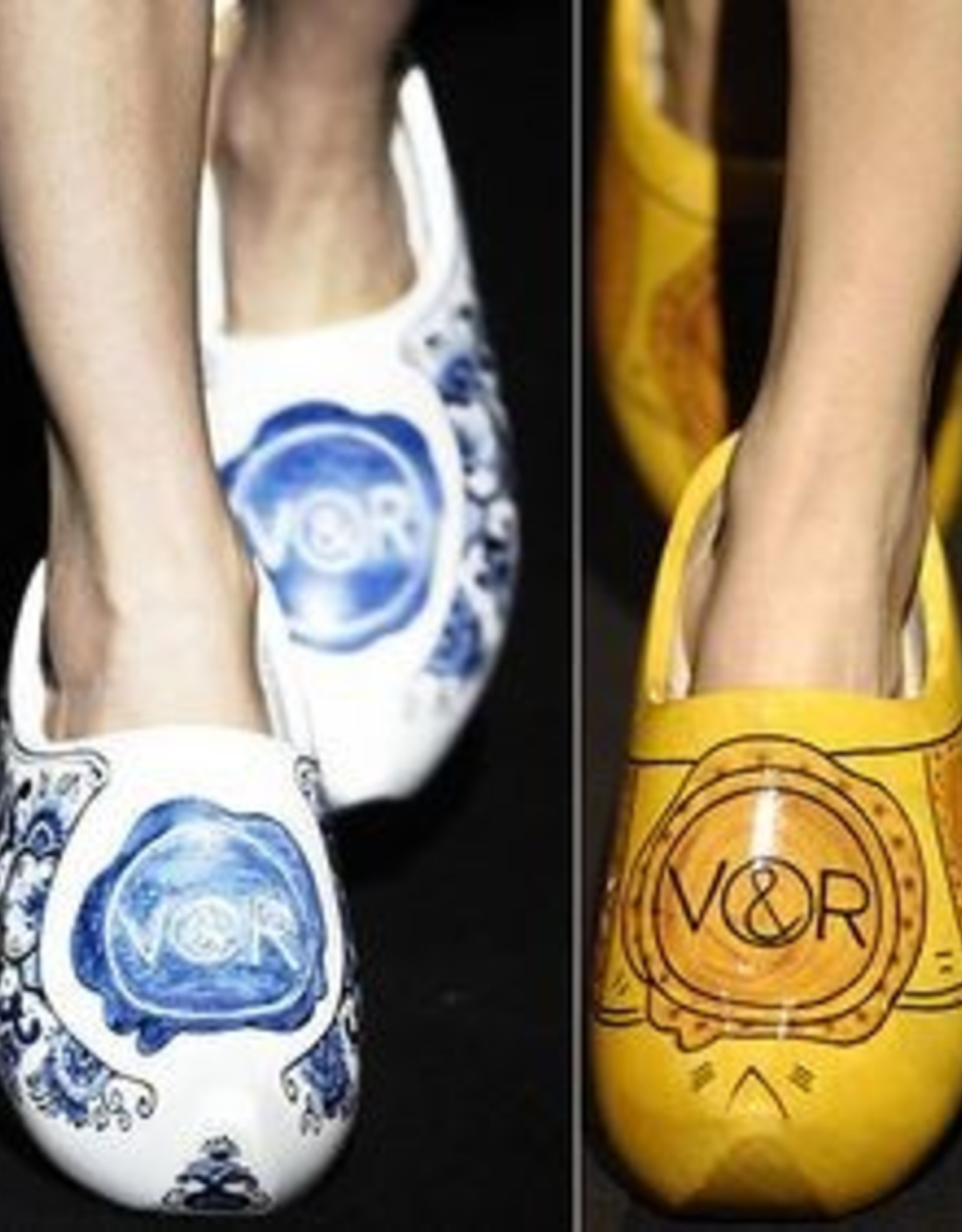 High heel wooden shoes with your own text/logo