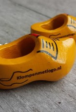 Woodenshoe keyhanger farmer yellow with personal print