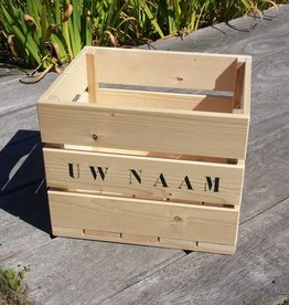 Wooden crate with print small size
