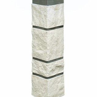 Tecos Ardense steenhoek, buitenhoek, Wit