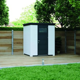 Eleganto Maison de jardin 1.8Mx1.8M, Anthracite, porte simple