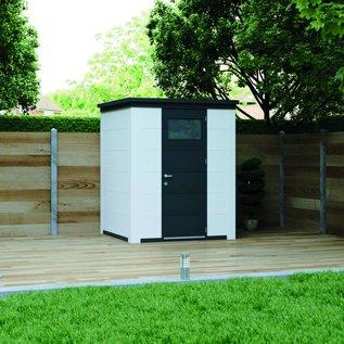 Eleganto Tuinhuis 1.8Mx1.8M Antraciet, simpele deur