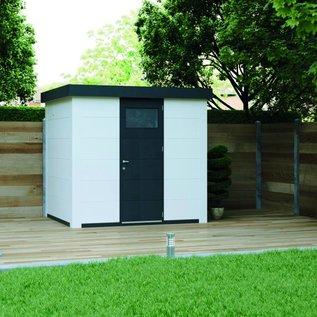 Eleganto Maison de jardin 2.4Mx2.1M, Gris clair, porte simple