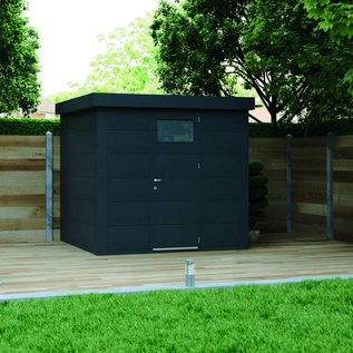 Eleganto Maison de jardin 2.4Mx2.4M, Anthracite, porte simple