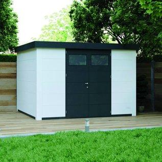 Eleganto Tuinhuis 3.3Mx3M licht grijs, dubbele deur