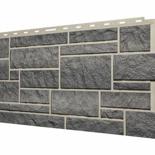 Tecos Panneau de façade avec pierre d'Ardennes, Gris granite