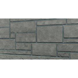 Tecos 1 boîte (10 panneaux)  façade en pierre d'Ardennes/Bardage, Gris basalte