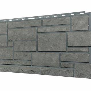Tecos Panneau de façade en pierre d'Ardennes/Bardage,Gris basalte