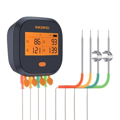 Inkbird IBBQ-4T WiFi bbq thermometer - waterdicht