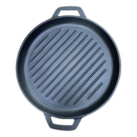 Keij Kamado® Gietijzeren grillpan - 30 cm - pre seasoned