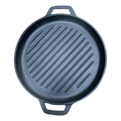 Gietijzeren grillpan - 30 cm - pre seasoned