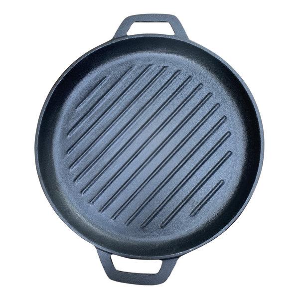Gietijzeren grillpan - 30 cmGietijzeren grillpan - 30 cm - pre seasoned