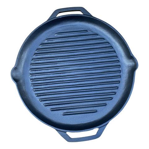 Gietijzeren grillpan - 25,5 cm - preseasoned