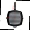 Gietijzeren skillet grillpan vierkant - 29 cm - Preseasoned