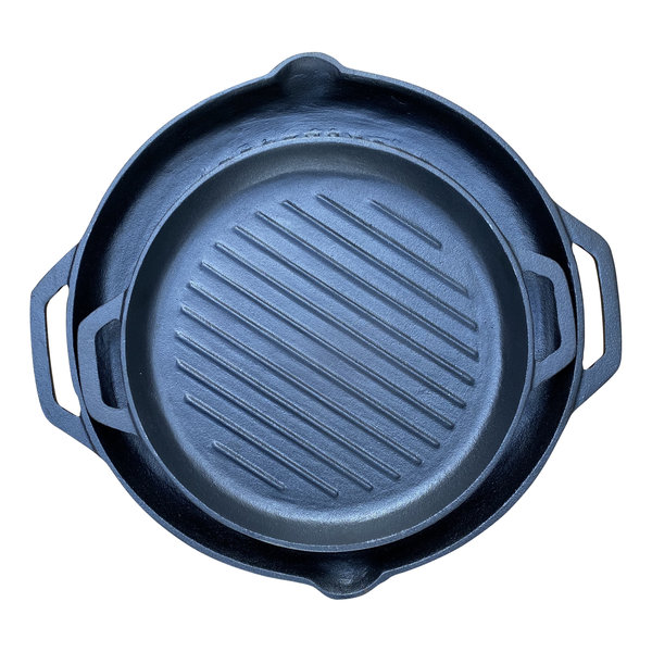 Keij Kamado® Gietijzeren set grillpannen - rond - preseasoned
