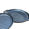 Gietijzeren set grillpannen - rond - preseasoned