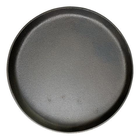 Gietijzeren ronde steakplate - 32 cm