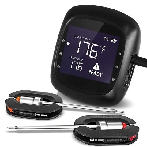 Bluetooth BBQ thermometer - 2 probes - 6 poorten
