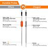 Bluetooth BBQ thermometer - 2 probes - 6 poorten