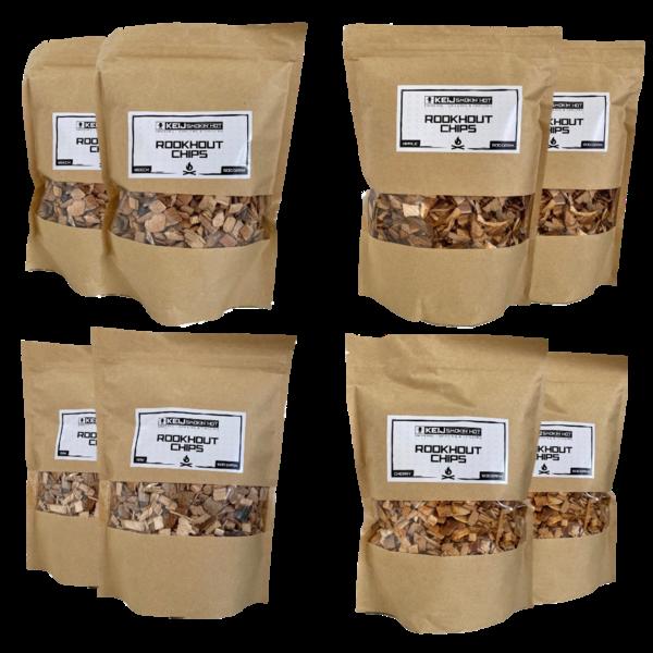 Keij Smokin' Hot Combipakket Rookhout Chips Medium