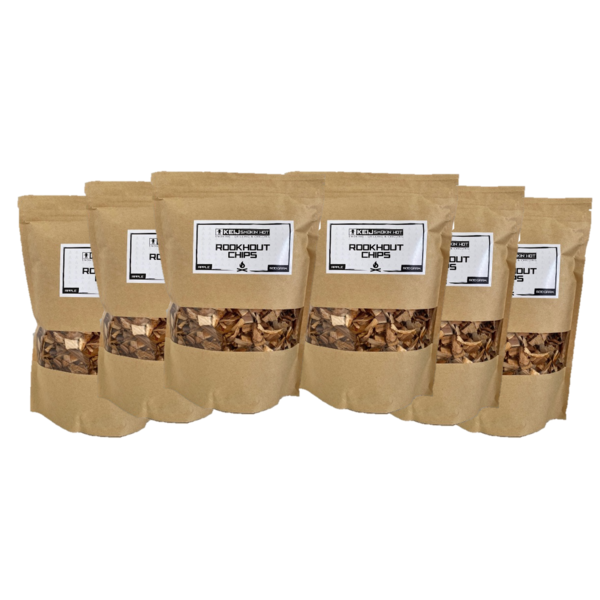 Keij Smokin' Hot Rookhout Chips Apple - 6 x 500 gram
