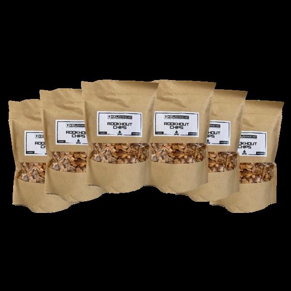 Keij Smokin' Hot Rookhout Chips Cherry - 6 x 500 gram