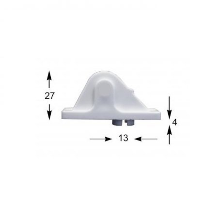 Selve Koordgeleider met kunststof wiel