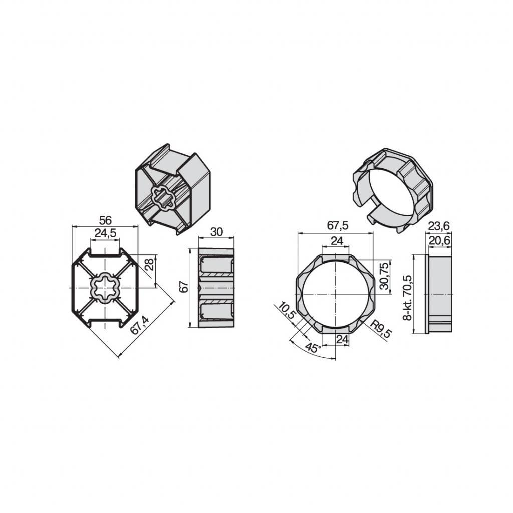 Becker Adaptieset 8k70 - L serie motoren