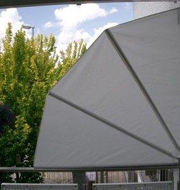Windscherm grijs waaier 1,4 meter