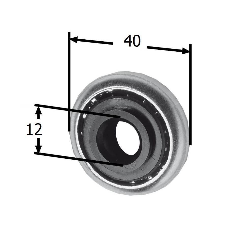 Selve Stalen lager Ø 40 mm met kunststof binnenring