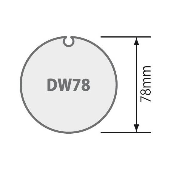 Selve Adaptieset Ø 78x1,5 met doekgleuf voor type 2 buismotor