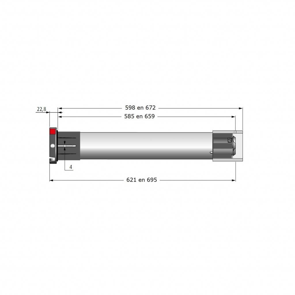 Simu T5 HZ 02 buismotor met geïntegreerde ontvanger