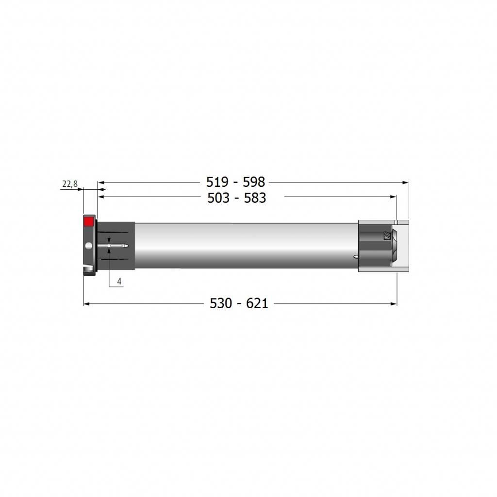 Simu Simu T5 buismotor / rolluikmotor - 12 omw/min