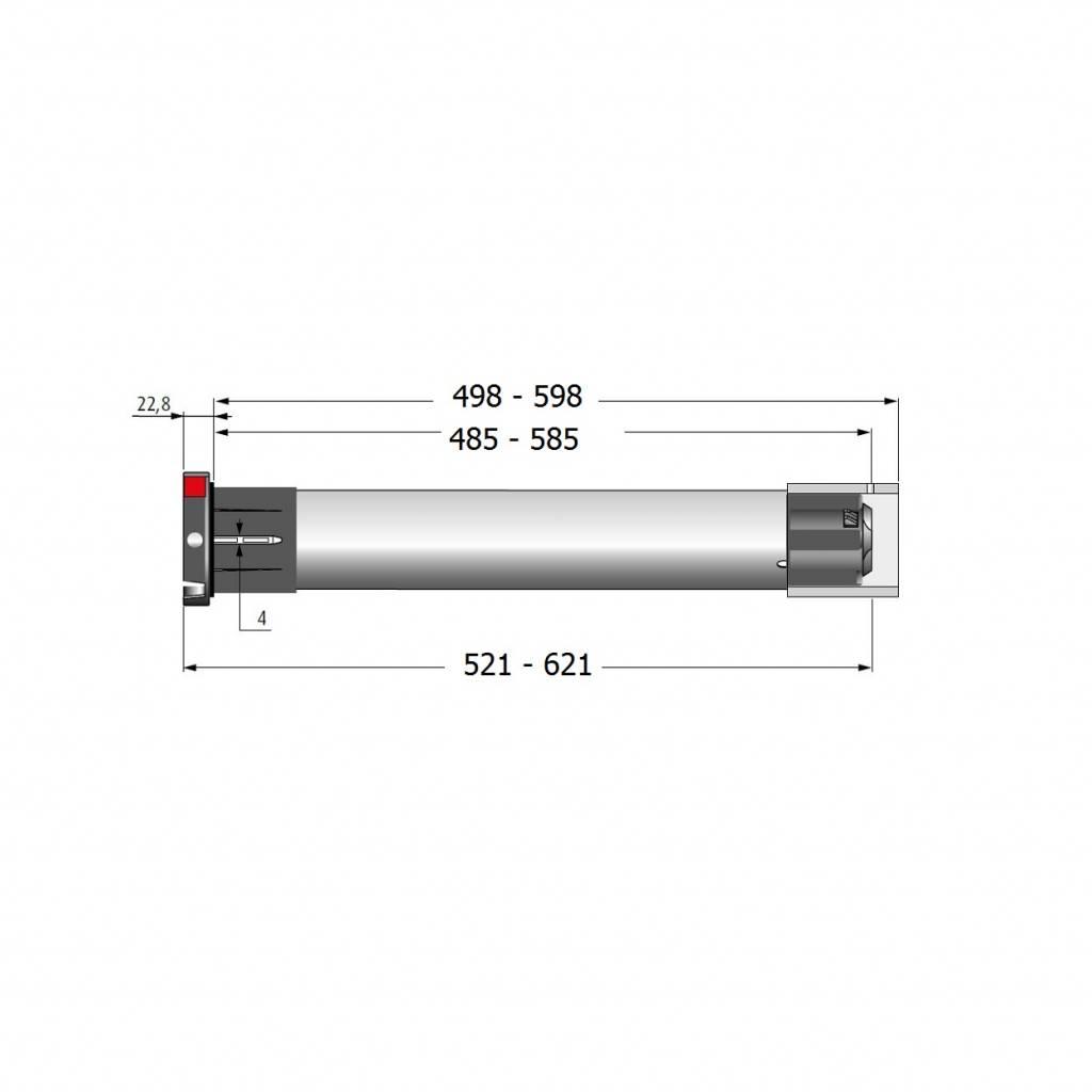 Simu T5 buismotor - 17 omw/min