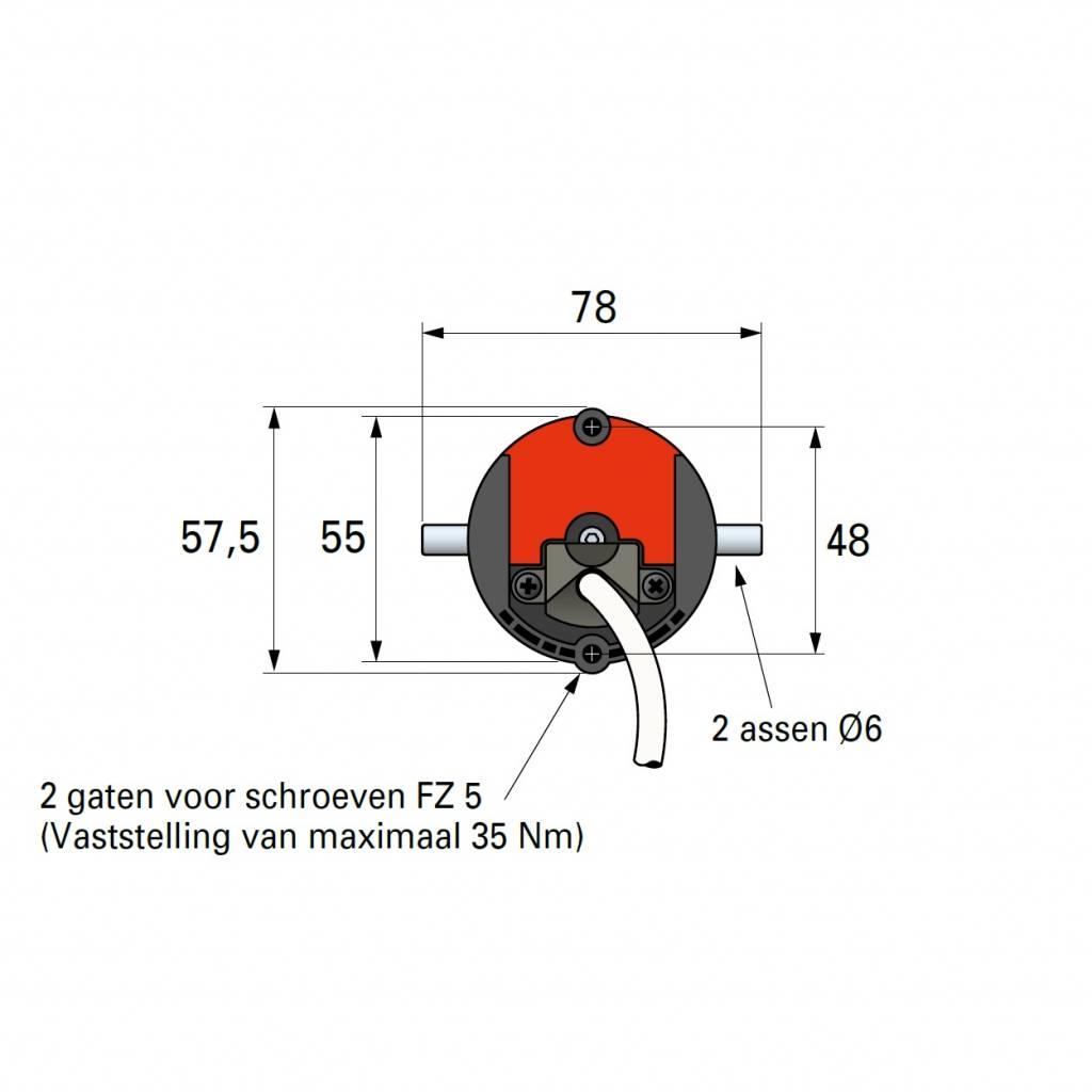 Simu T5 E Hz buismotor met geintegreerde ontvanger en obstakeldetectie