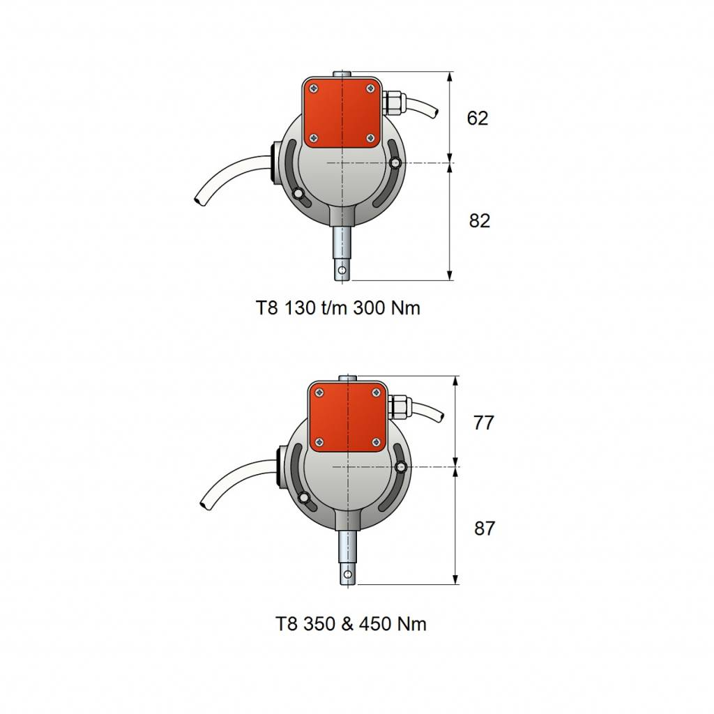 Simu T8 M rolluikmotor met noodhandbediening