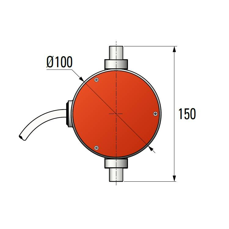 Simu T9 buismotor Simu 400 Volt / 3 fase