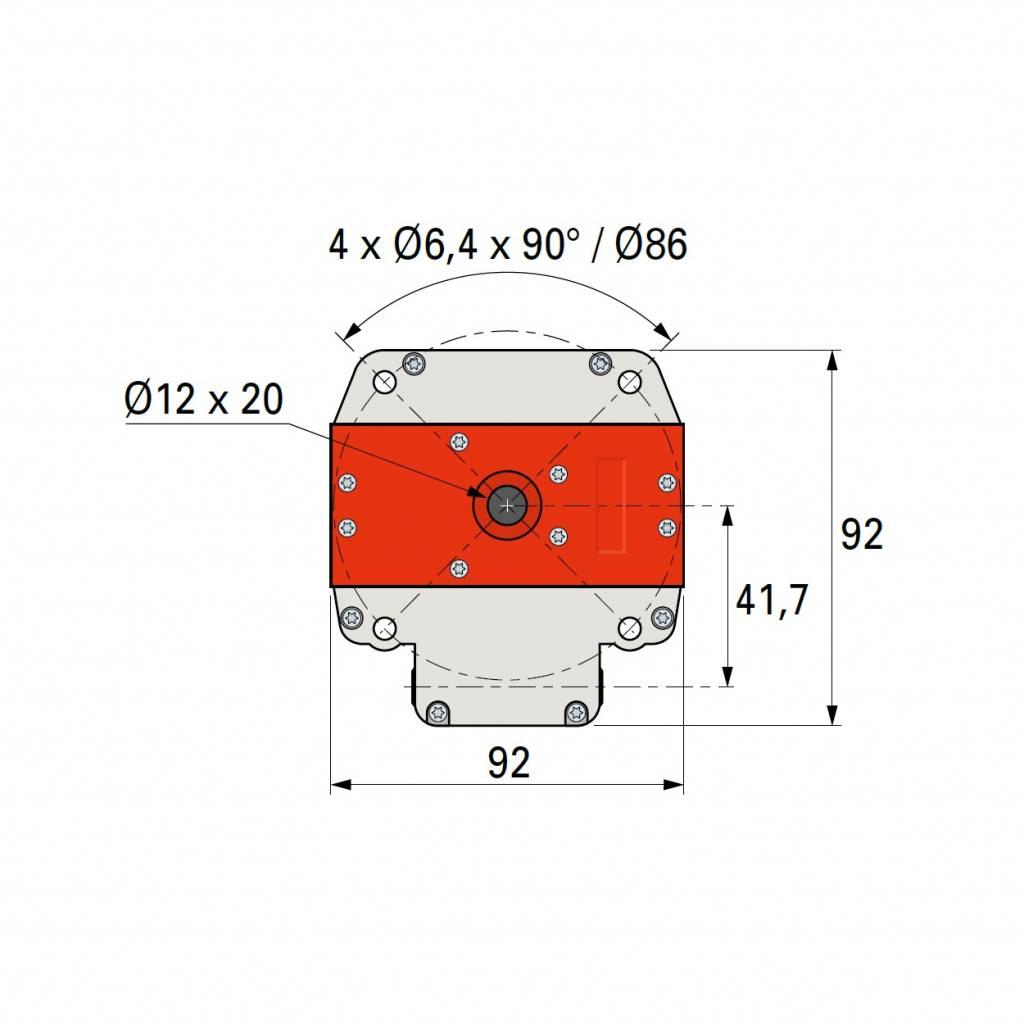 Simu T6 DMI buismotor met noodhandbediening en geïntegreerde ontvanger