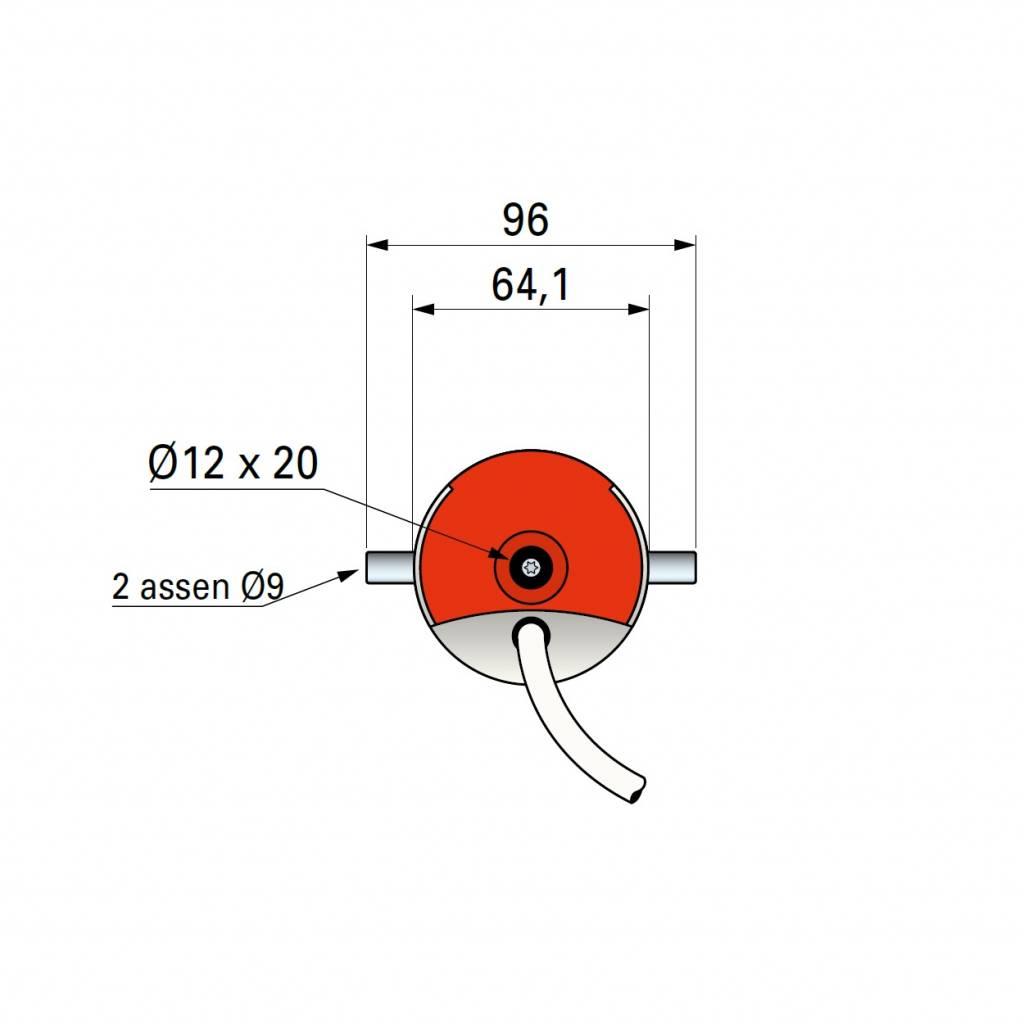Simu T6 E SP buismotor met doekrekcompensatie