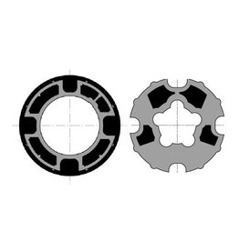 Somfy Adaptieset Ø 78 mm met doekgleuf - LT50 en T5