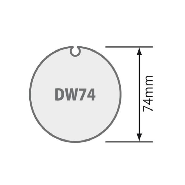 Somfy Adaptieset tbv as Dohner Ø 74 mm met doekgleuf
