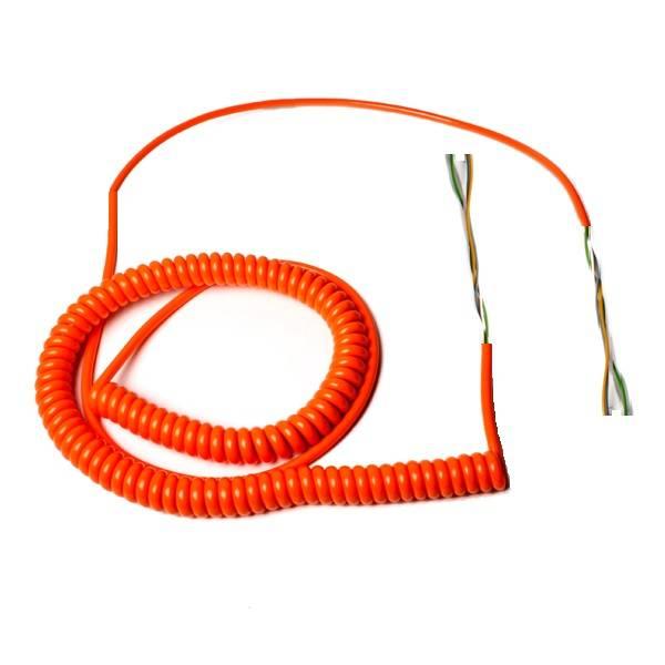 Spiraalkabel lang, 5-aderig, oranje