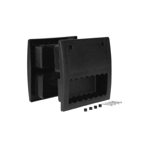 Handgreep / voetplaat voor sectionaaldeur  zwart nylon