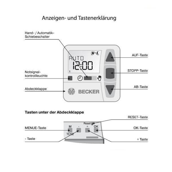 Becker Inbouw tijdklok TimeControl TC52
